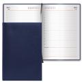 Ежедневник недатированный Brauberg Select темно-синий, А5, 160 листов, под зернистую кожу