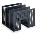 Подставка для бумаг BRAUBERG <Radikal>, 3-секционная, черная, 235364 ПЛС