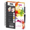 Блокноты и бизнес-тетради Бизнес-тетрадь Emotion,А5,150л.,148х20., 5 раз, рез под руч, кл+лин,0003