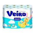 Туалетная бумага Veiro Classic без аромата, белая, 2 слоя, 140 листов, 17.5м