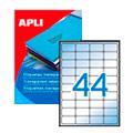 Этикетки прозрачные Apli 1223, 48.5x25.4мм, 880шт