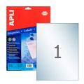 Этикетки прозрачные Apli 10053, 210х297мм, 10шт, глянцевые