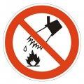 Сигнальный инвентарь Знак безопасности P04 Запрещается тушить водой (плёнка, 200х200)