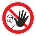 Сигнальный инвентарь Знак безопасности P06 Доступ посторонним запрещён (плёнка,200х200)