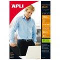 Фотобумага APLI, А4, 170г, 20л, матовая, двусторонняя, для струйной печати 10418