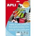 Визитные карточки Apli 10611, 85х51мм, 10л х10шт, фотокачество