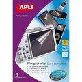 Защитная плёнка APLI для ЖК-экранов + салфетки для обезжиривания + стикер для разглаживания, удаляем