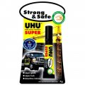 Клей секундный UHU SUPER Strong & Safe, 7гр, блистер 38570/46960