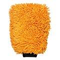 Салфетка-рукавица для полировки ЛАЙМА микрофибра, 23*16см, оранжевая, 601247
