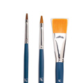Кисть для рисования Байкал, синтетика, плоская, длинная ручка