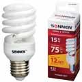 Энергосберегающая лампа Sonnen CLL компакт. T2, мощность (эквивалент) 15W(75Вт)