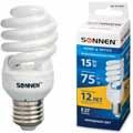 Энергосберегающая лампа Sonnen компакт. T2, мощность (эквивалент) 15W(75Вт)