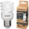 Энергосберегающая лампа Sonnen ECO T2, мощность (эквивалент) 11W(55Вт)