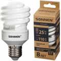Энергосберегающая лампа Sonnen ECO T2, мощность (эквивалент) 25W(110Вт)