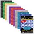 Цветной картон А4 210*297мм BRAUBERG, ГОФРИРОВАННЫЙ С БЛЕСТКАМИ, 10л., 124753