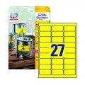 Этикетки всепогодные,63,5х29,6мм,желтые, тип печати L+K