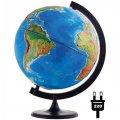 Глобус физико-политический Глобусный Мир, рельефный, с подсветкой