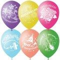 """Воздушные шары, 50шт, M12/30см, """"Праздничная тематика"""", шелк"""