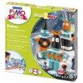 Набор для лепки из полимерной глины Fimo Kids create&play Робот, 4 цвета x42г