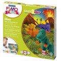 Набор для лепки из полимерной глины Fimo Kids create&play Дино, 4 цвета x42г