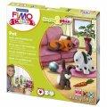 Набор для лепки из полимерной глины Fimo Kids create&play Домашний любимец, 4 цвета x42г