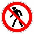 Знак Проход запрещён Гасзнак 200мм, самоклеящаяся пленка ПВХ, P03