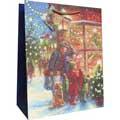 Пакет подарочный новогодний 26x32.5x12.5см, EUX/140307