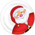 """Тарелка бум. 210мм """"Дед Мороз"""" (6 шт)*уп6"""