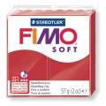 FIMO Soft полим. глина, запекаемая, 57 гр, цвет рождественский красный