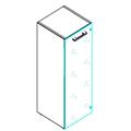 Шкаф-колонка Skyland Torr TMC 42.2, 430х452х1203мм, со стеклянной дверью, с топом