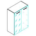 Шкаф Skyland Torr TMC 85.2, 854х452х1203мм, со стеклянными дверьми, с топом