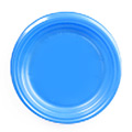 Тарелка одноразовая Стиролпласт, d=16.5см, 100шт/уп