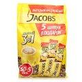 Кофе растворимый Jacobs 3в1 Мягкий, 50х12.6г+5