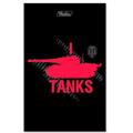 Блокнот Hatber World of tanks черная, А7, 48 листов, в клетку, на склейке, мелованный картон, ассорти