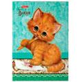 Блокнот Hatber Милый котик, А6, 80 листов, в клетку, на сшивке, книжный переплет с поролоном