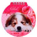 Блокнот Hatber Милый щенок, А6, 60 листов, нелинованный, на спирали, мелованный картон, фигурная высечка