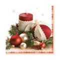 Салфетки Daisy Новогодние шары, 33х33см, 3 слоя, 20шт/уп