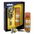 Подарочный набор Gillette Fusion ProShield, бритва, гель для бритья