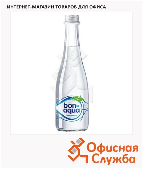 фото: Вода питьевая Bon Aqua газ 330мл, стекло