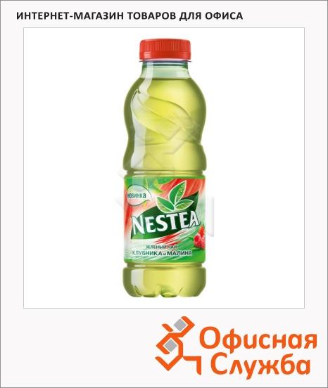 фото: Чай холодный Nestea Vitao Зеленый клубника 1л, ПЭТ