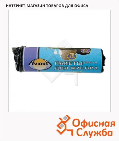 фото: Мешки для мусора Aviora 30л черные, 6мкм, 25шт/уп