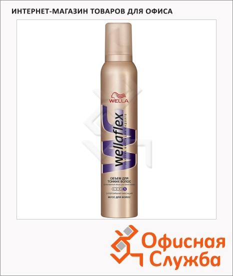 фото: Мусс для волос Wellaflex Объем для тонких волос супер-сильная фиксация, 200мл