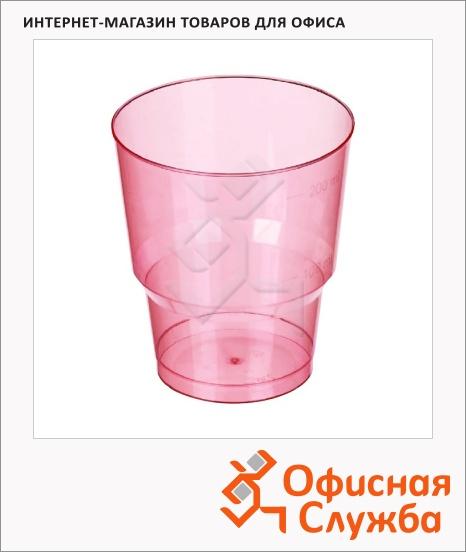 фото: Стакан одноразовый Комус-Упаковка 200мл 50шт/уп, пластиковый красный