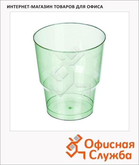 фото: Стакан одноразовый Комус-Упаковка 200мл 50шт/уп, пластиковый зеленый