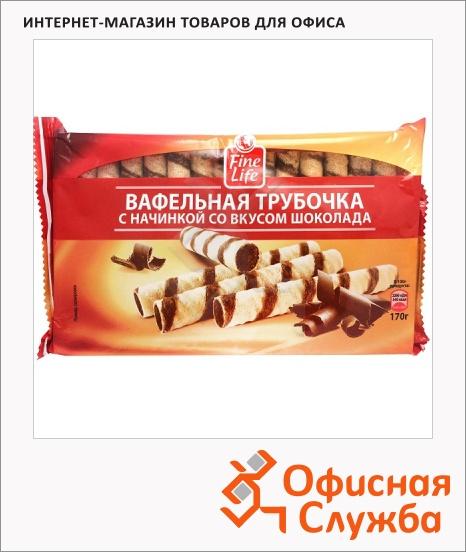 фото: Вафельные трубочки Fine Life со вкусом шоколада 170г