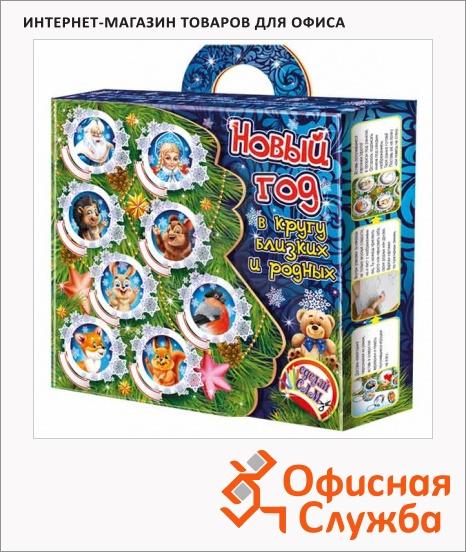 фото: Подарочный набор Новогодняя рамка и елочные игрушки 760г