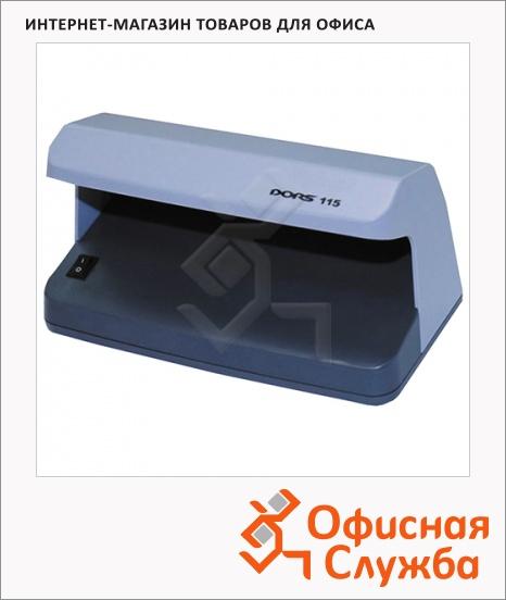 фото: Детектор банкнот Dors 115 просмотровый, УФ-детекция, серый