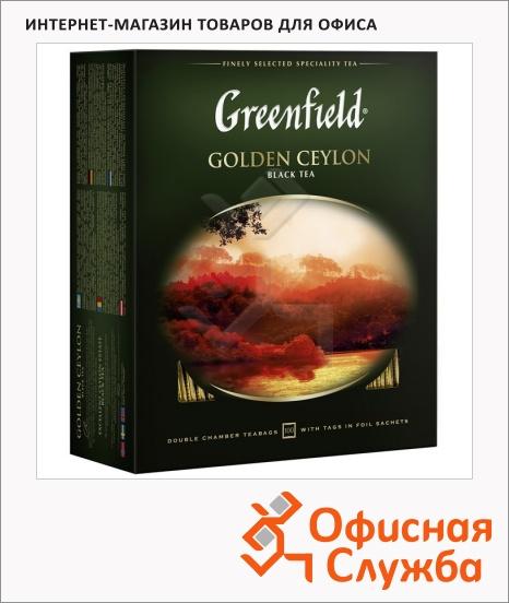 фото: Чай Greenfield Golden Ceylon (Голден Цейлон) черный, 100 пакетиков