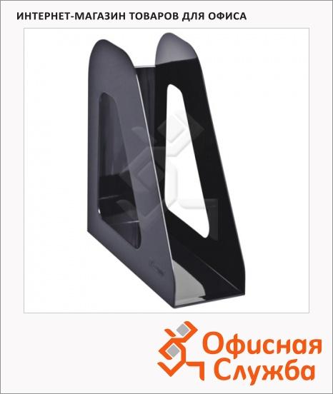 фото: Накопитель вертикальный для бумаг Стамм Фаворит А4 90мм, черный, ЛТ705