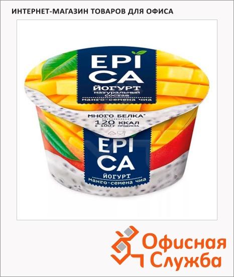 фото: Йогурт Epica манго и семена чиа 5%, 130г